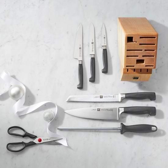 Zwilling 双立人 四星系列厨房刀具8件套2.5折 229.49加元包邮!送价值234.99加元牛排刀8件套!