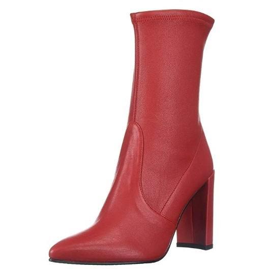 白菜价!Stuart Weitzman Clinger 红色尖头短靴 188.47加元(7.5码),原价 640.12加元,包邮