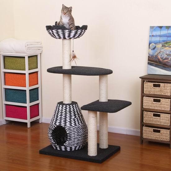 白菜价!历史新低!Ace PetPals 猫树公寓/猫爬架1.4折 43.43加元包邮!