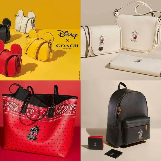 Disney x Coach 联名款系列手袋、钱包全部7折!
