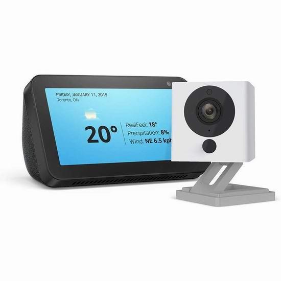 历史新低!新品 Echo Show 5 智能显示器 64.99加元包邮!送Wyze Cam v2智能监控!2色可选!