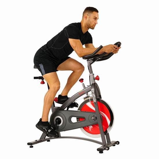 会员专享:Sunny Health & Fitness SF-B1423 家用静音健身自行车 371.17加元包邮!