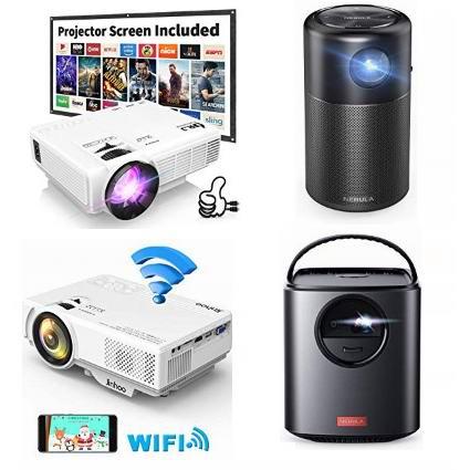 金盒头条:精选多款家庭影院投影机、WiFi投影机、便携充电式投影机6.9折起!低至75.64加元!