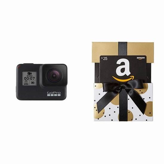 GoPro HERO7 Black 4K超高清 防水运动摄像机 399加元包邮!送价值25加元亚马逊礼品卡!