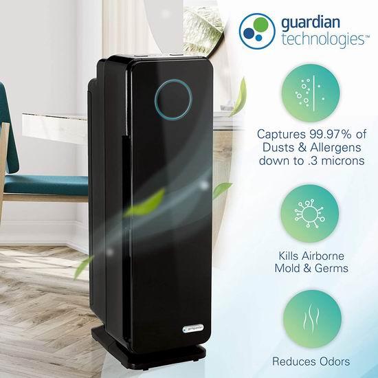 Germ Guardian AC4300BPTCA Elite HEPA 3合1空气净化器 134.66加元包邮!