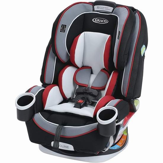 Graco 葛莱 4Ever All-In-One 顶级全阶段 儿童汽车安全座椅 7折 299.97加元包邮(原价 429.99加元)!4色可选!