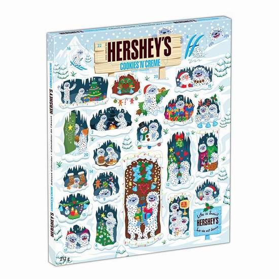 金盒头条:精选 Reese、Hershey's 巧克力糖果 圣诞倒数日历套装 9.19-9.49加元!