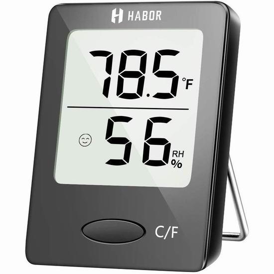 Habor 家用温度计/湿度计 9.34加元限量特卖!