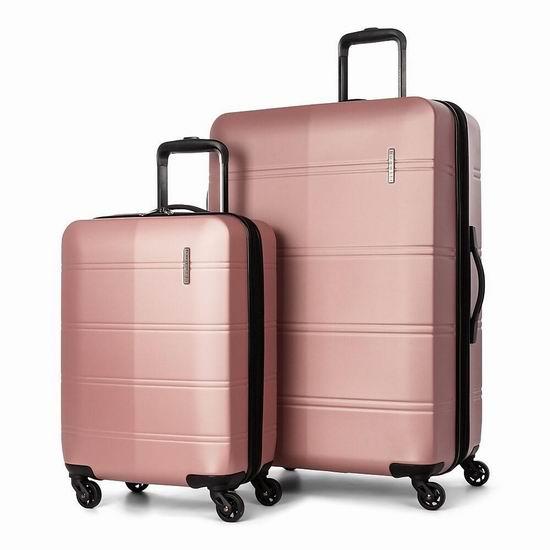 链接已修正!白菜价!Bugatti 20+28英寸 硬壳拉杆行李箱2件套 54.98加元包邮!8款可选!
