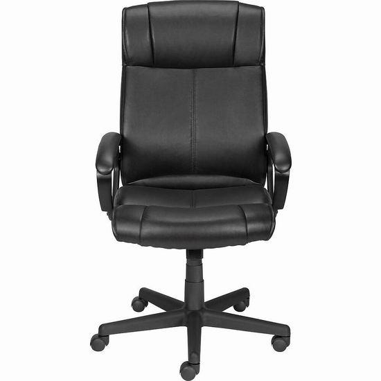 白菜价!Staples Turcotte Luxura 高靠背旋转办公椅3.5折 62.49加元包邮!2色可选!