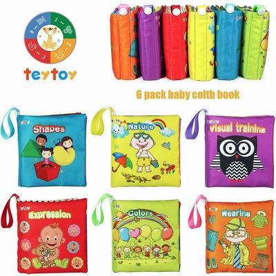 Baby's First Soft Books宝宝启蒙益智布书 6.7折 7.99加元起特卖!