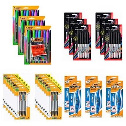 金盒头条:精选 BIC 马克笔、签字笔、原子笔、机械铅笔、修正带、涂改液超值装等4.2折起!低至6.17加元!