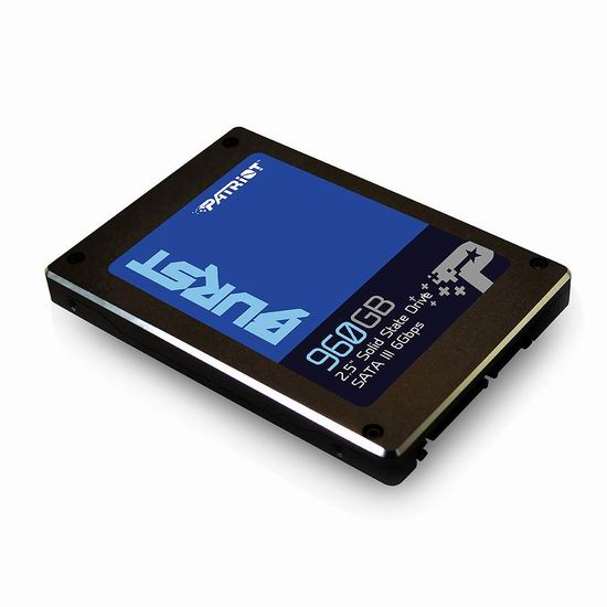 Patriot Memory Burst SSD 960GB SATA III 固态硬盘 117.99加元包邮!