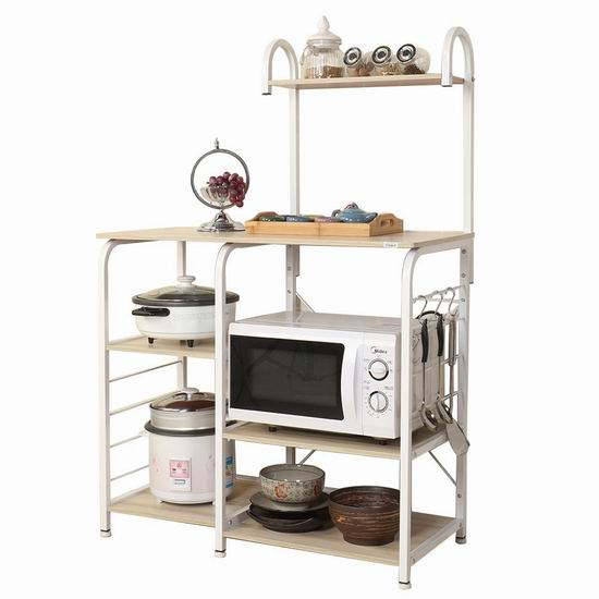 手慢无!sogesfurniture BHCA-172-BK 四层式 厨房收纳桌 58.98-79加元限量特卖并包邮!
