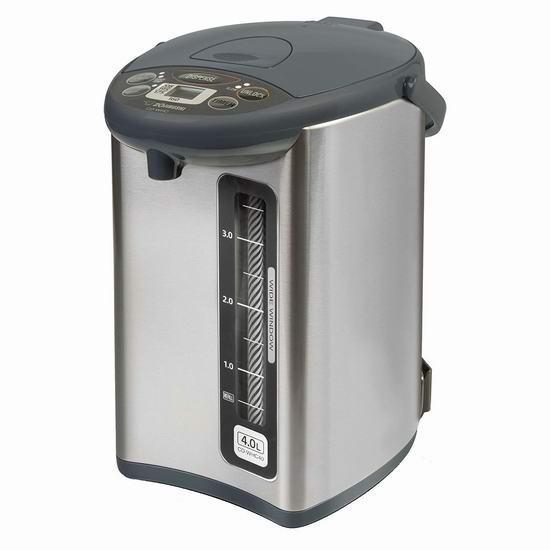Zojirushi 象印 CD-WHC40XH Micom 4升 微电脑智能电热水壶 208加元包邮!