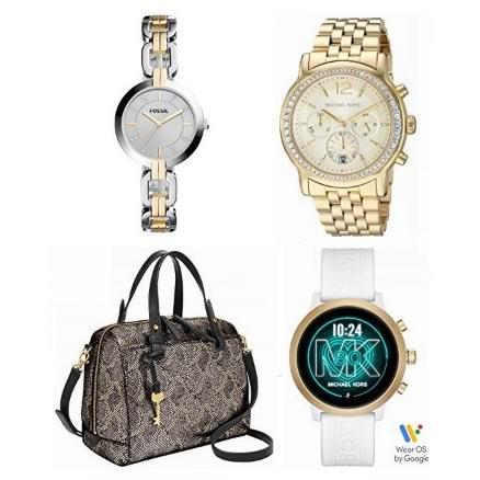 金盒头条:精选多款 Michael Kors、Fossil 时尚手表、手袋5折起!