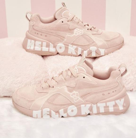 PUMA X Hello Kitty第二波联名系列热卖 入超人气厚底小粉鞋!