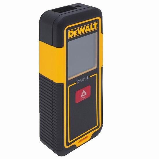 历史新低!DEWALT 得伟 DW055E 55英尺 专业激光测距仪3.3折 29.95加元!