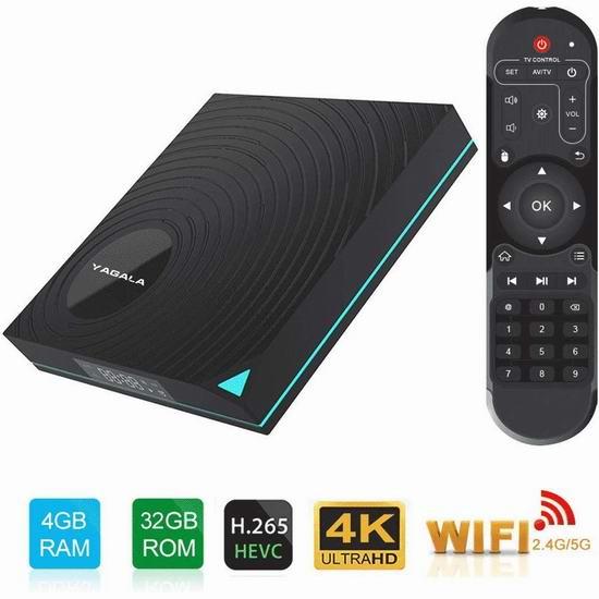 EVER EXPRESS Y1 4K超高清流媒体播放器/网络电视机顶盒(4GB/32GB) 36.95加元限量特卖并包邮!