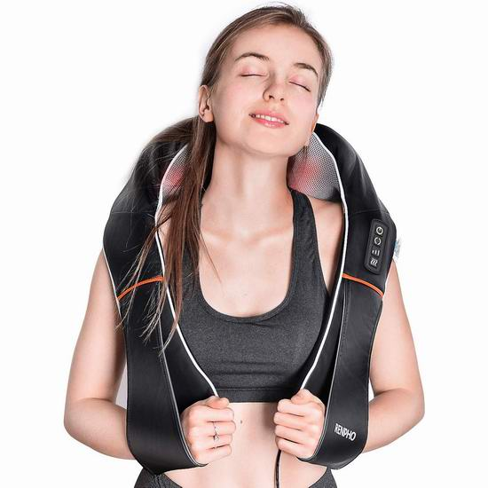 金盒头条:RENPHO 红外加热 3D揉捏 肩颈按摩披肩 59.99加元包邮!
