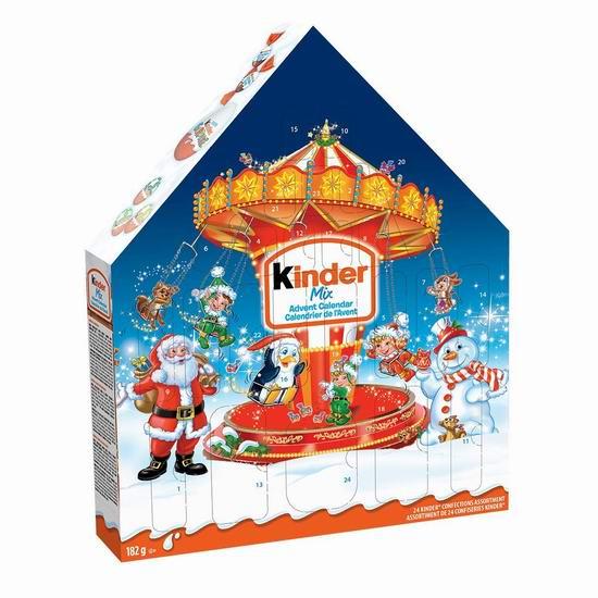 历史新低!Kinder 奇趣蛋巧克力糖果 圣诞倒数日历套装 7.98加元!2款可选!
