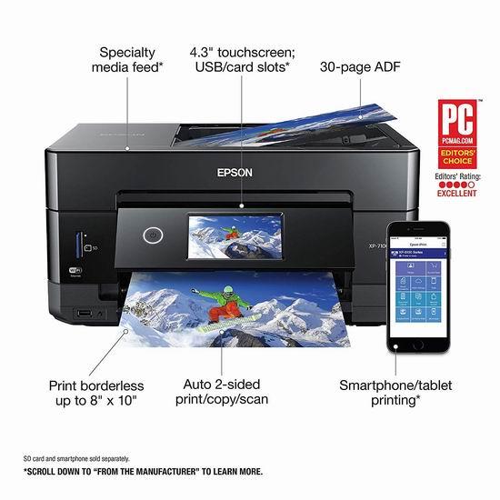 销量冠军!Epson 爱普生 Expression Premium XP-7100 无线多功能一体彩色喷墨打印机5折 99.99加元包邮!