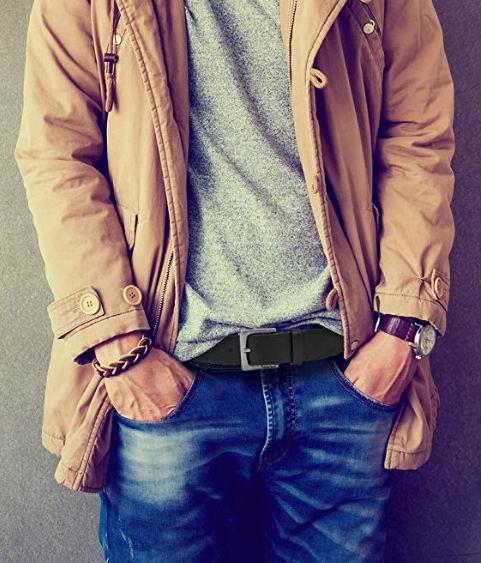 Timberland男士双面皮带 黑色款 25.52加元,原价 46.6加元