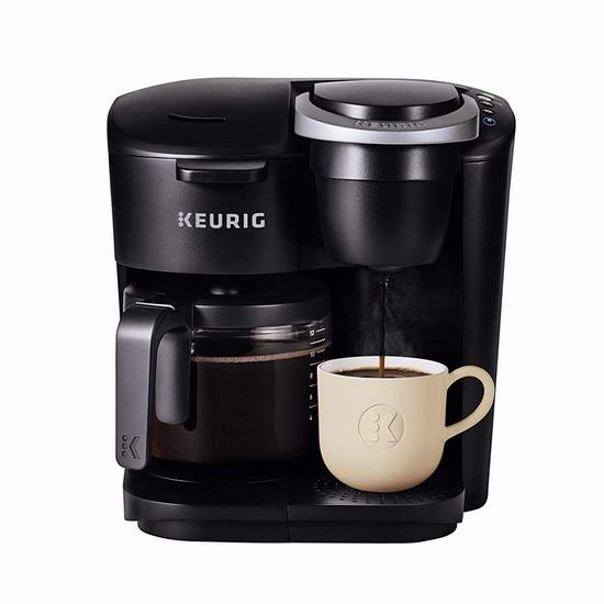 黑五价:历史新低!Keurig K-Duo Essentials 12杯量 二合一 咖啡粉+胶囊 咖啡机5.3折 78.88加元包邮!