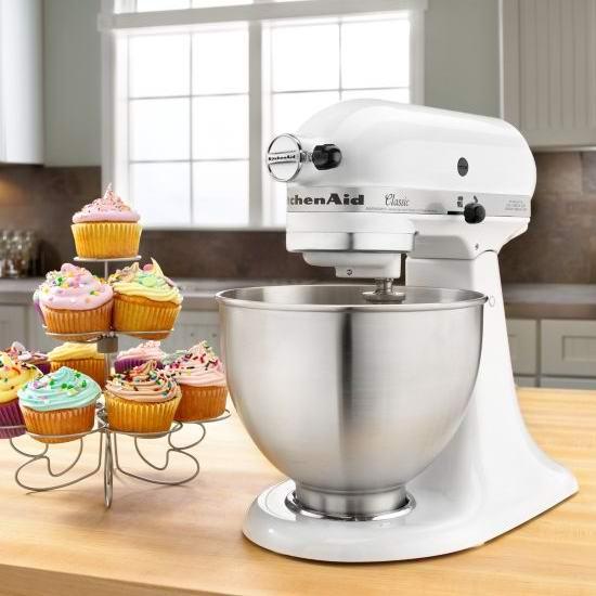 KitchenAid 4.5夸脱 经典系列多功能厨师机4.6折 199.1加元包邮!2色可选!