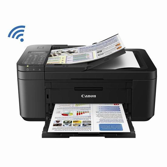 历史最低价!Canon 佳能 PIXMA TR4527 无线多功能一体彩色喷墨打印机5.5折 54.98加元包邮!