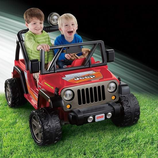 Fisher-Price 费雪 Mattel 儿童双人座牧马人越野电动车5.7折 228加元包邮!