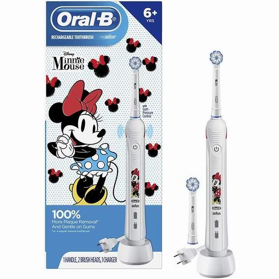 黑五价!历史新低!Oral B 压力感应 儿童电动牙刷 59.99加元包邮!米妮、星球大战两款可选!