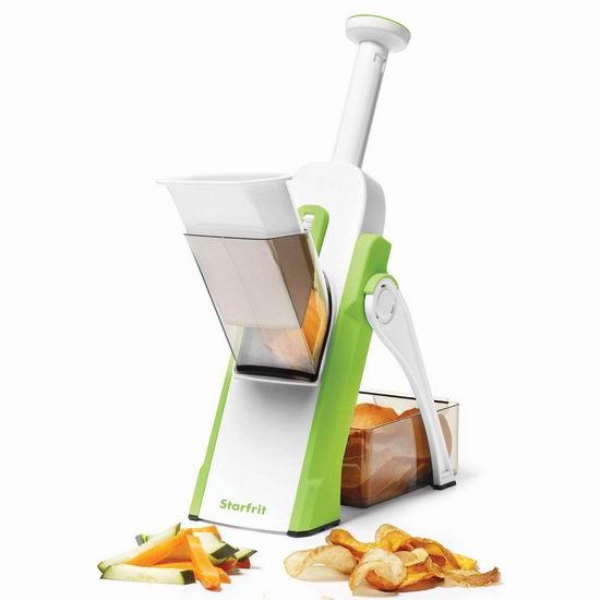 Starfrit Pump'n'Slice 蔬菜水果快速切丝切粒切片器5.7折 19.97加元!