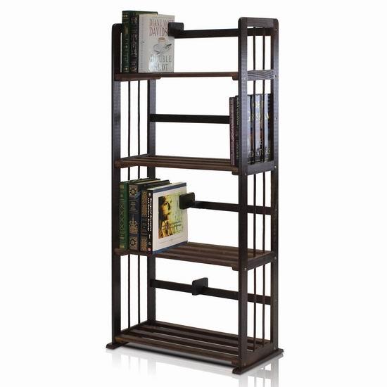历史新低!FURINNO FNCL-33002-C1 4层实木置物展示架/书架4.1折 49.72加元包邮!