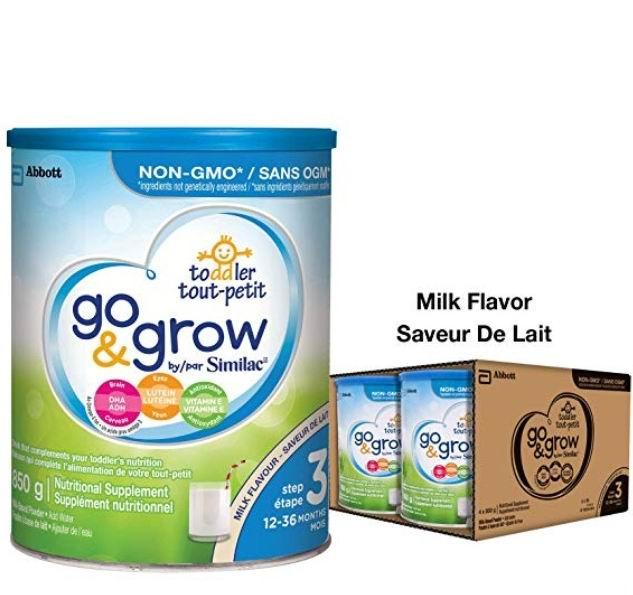 Similac Go & Grow 3段婴儿奶粉  69.97加元(4 X 850 G ),原价 94.5加元,包邮