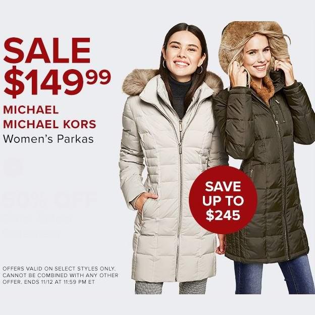 今日闪购:Michael Kors 女式毛领羽绒服3.8折 149.99加元包邮!12色可选!另有Tommy Hilfiger、CK、SOIA & KYO、Guess等品牌女式及儿童防寒服5折起!