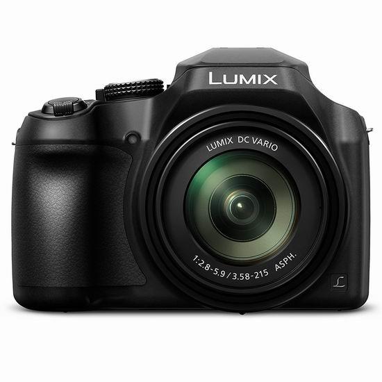 历史新低!Panasonic 松下 DCFZ80K LUMIX系列 60倍超强变焦 数码相机5.8折 289加元包邮!