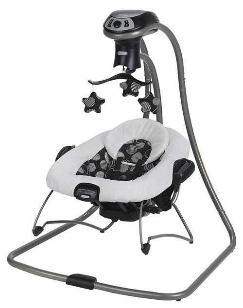 Graco DuetConnect LX  宝宝多功能便携式电动秋千摇椅 199.97加元,原价 259.99加元,包邮