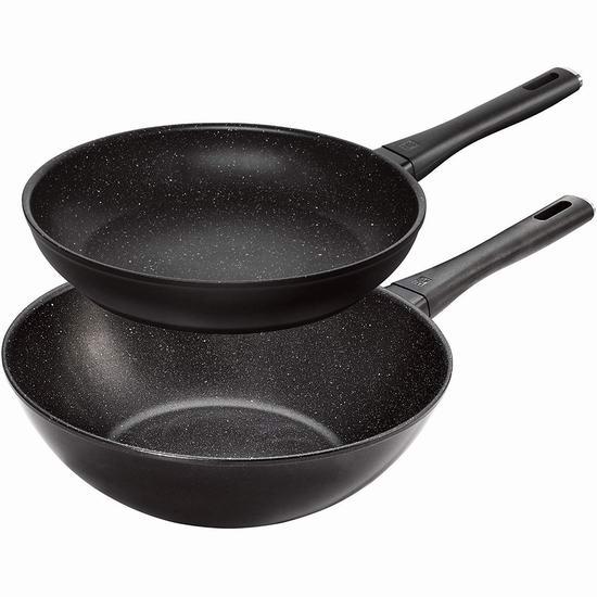 Zwilling 双立人 Marquina 超耐用不粘底煎锅+炒锅2件套3.5折 99.99加元限量特卖并包邮!