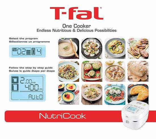 历史最低价!T-fal RK900151 Nutricook 82合一 多功能全营养电饭煲4折 99.99加元包邮!The Bay同款清仓价149.99加元!