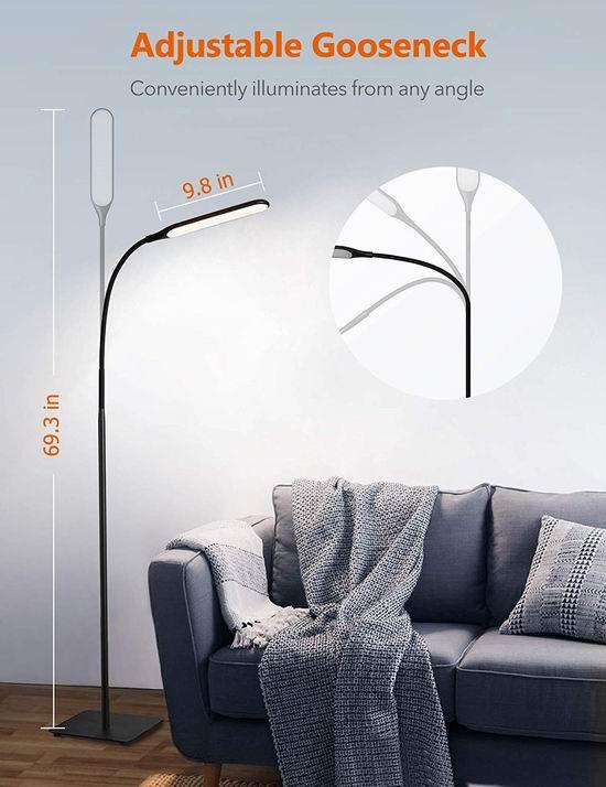 TaoTronics 10瓦 LED节能 落地式护眼灯 53.99加元包邮!