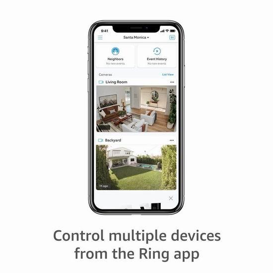 历史新低!Ring Stick Up Cam Battery 室内外 可充电 家用智能监控摄像头5.5折 109.99加元包邮!送Echo Dot智能音箱!