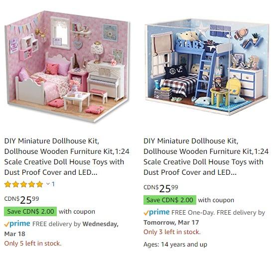 Decdeal DIY 创意迷你娃娃屋 最高立减6加元, 送礼首选!