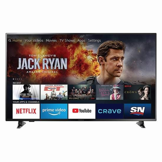 历史新低!Insignia 58英寸 4K超高清 Fire TV版智能电视 449.99加元包邮!