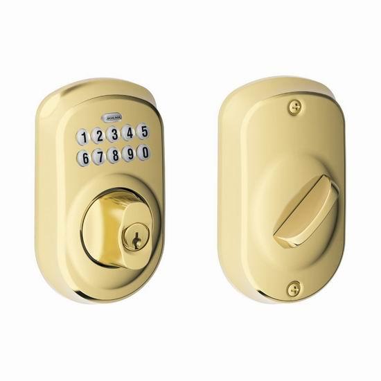 Schlage 西勒奇 BE365 CAM 家用密码门锁5.4折 98加元包邮!3款可选!