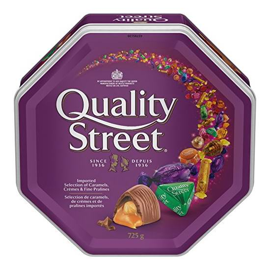 历史新低!Nestle Quality Street 花街 巧克力什锦礼盒(725克) 9.95加元!