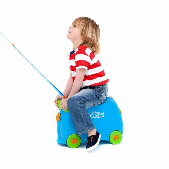 历史新低!Trunki Ride-On 儿童座椅式卡通旅行箱/行李箱 48.88加元包邮!让旅途更开心!