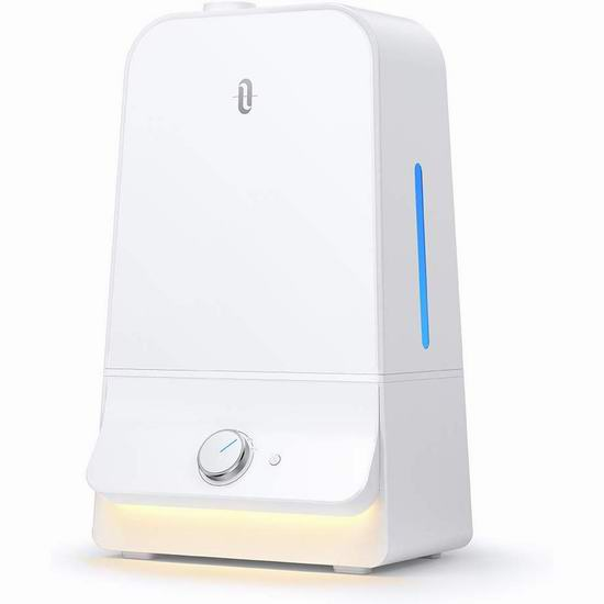 历史新低!TaoTronics 6升大容量超声波雾化加湿器 56.99加元包邮!