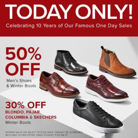 今日闪购:精选 Timberland、Clarks、Calvin Klein、Rockport、Pegabo 等品牌男式皮鞋、登山靴、雪地靴全部5折!