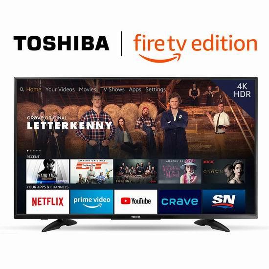 Toshiba 东芝 43LF711C20 43英寸 4K UHD超高清 Fire TV版智能电视 399.99加元包邮!
